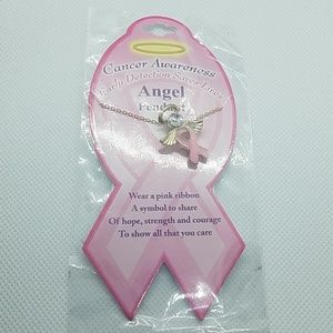 NWT Cancer Awareness Angel Pendant